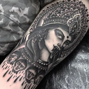 Blackwork Tattoo by Jack Peppiette #blackwork #traditional #geometric #JackPeppiette