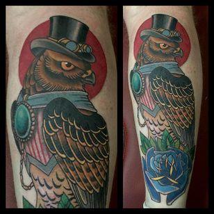 Traditional Hawk Design by Jamie Santos #Hawk #TraditionalHawk #BirdTattoo #TraditionalBird #JamieSantos