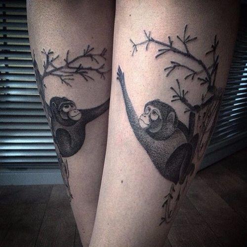 Monkeys hanging out. (via IG - nikolay_tereshenko) #nikolaytereshenko #blackandgrey #softblackandgrey #monkeys