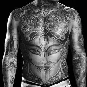 Trabalho Pesadíssimo por Jondix #Jondix #Kali #Cali #Kalitattoo #Calitattoo #hindu #hinduism #hindutattoo #bodysuit #lingua #tongue