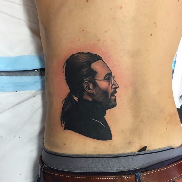 Black and grey portrait tattoo by Dan Molloy. #DanMolloy #blackandgrey #portrait