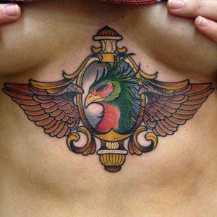 An ornate bird. (Via IG - diegoapu) #animal #creature #neotraditional #diegoapu