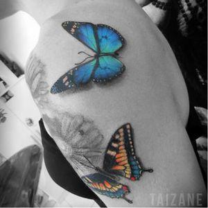 #butterflys #borboletas #coloridas #colorful #Taizane #TaizaneTatuadora #brasil #brazil #portugues #portuguese