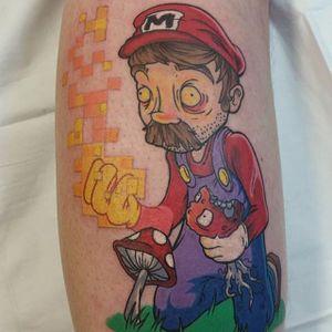 Super Mario World tattoo by John White. #supermario #videogame #JohnWhite