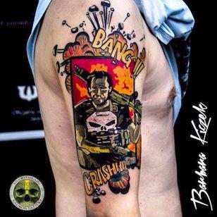 Punisher by Barbara Kiczek (via IG -- barbara_kiczek) #barbarakiczek #thepunisher
