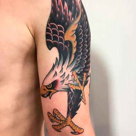Eagle. (via IG - death_cloak) #Traditional #FrankieCaraccioli #eagle