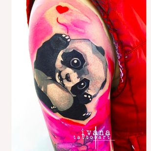 Cute panda cub by Ivana Tattoo Art (via IG -- ivanatattooart) #ivanatattooart #panda