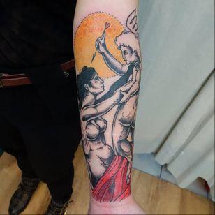 Cupid tattoo by Clementine Noraison #ClementineNoraison #illustrative #cupid #mythology #ModerneElectriqueTattoo