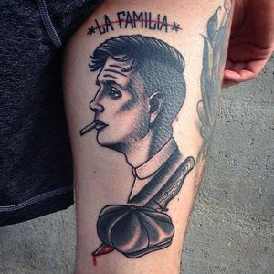 Tommy Shelby Tattoo by Boryslav Dementiev #peakyblinders #traditional #traditionalportrait #popculture #popcultureportrait #popart #BoryslavDementiev