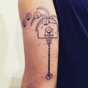 Basketball Tattoo. #Basketball #BasketballTattoo #BasketballTattoos #NBA