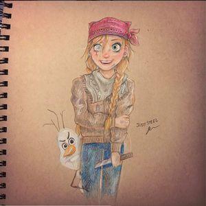 Frozen art by Jody Steel #JodySteel #art #painting #paint #realism #realistic #Frozen #Disney