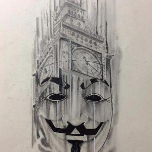 Ilustração por Luigi Verly #LuigiVerly #VdeVingança #VforVendetta #Brazilianartists #artistasbrasileiros #Brasil #illustration
