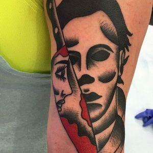 Michael Myers Tattoo by Brent Giboney #michaelmyers #michaelmyerstattoo #halloween #halloweenatattoo #horror #horrortattoo #BrentGiboney
