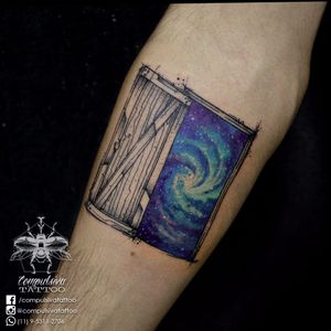 #MayaraCompulsiva #tatuadorasdobrasil #galaxia #galaxy #porta #door