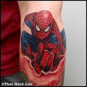 Spider-Man Tattoo by Jory Campion #SpiderMan #Marvel #Superhero #Comic #JoryCampion