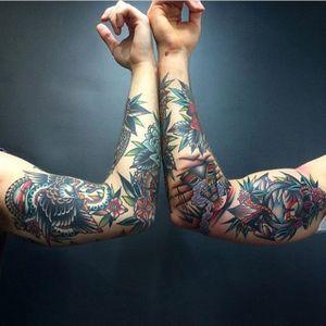 Friendship tattoos anyone? @kirk_jones_tattoo #traditional #kirkjones