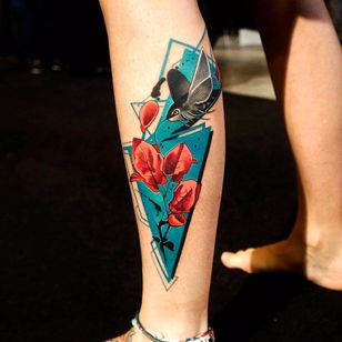 Por Dynoz #DynozArtAttack #gringo #abstract #abstract #colorido #colorful #flor #flower #folha #leaf #passarinho #passaro #ave #bird