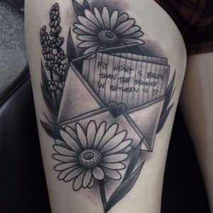 Paramore tattoo by Kalun Miles. #blackandgrey #paramore #band #music #lyrics