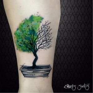 Os filtros do nosso ar!  #ChrisSantos #arvores #trees #folhas #leafs #TatuadoresDoBrasil #aquarela #watercolor
