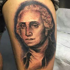 Washington portrait by Stella Vlad (via IG -- stellamayvlad) #stellavlad #portrait #georgewashington