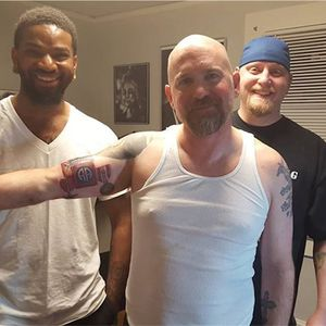 A veteran after receiving a tattoo via tattoo therapy (via IG-operationtattooingfreedom) #veterans #tattootherapy #ptsd #anxiety #depression #OperationTattooingFreedom