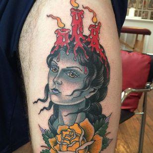 Creepy lady via @deandenney #DeanDenney #traditional #spooky #ladyhead