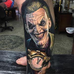 Joker Tattoo by Ben Kaye #joker #thejoker #realism #colorrealism #portrait #BenKaye