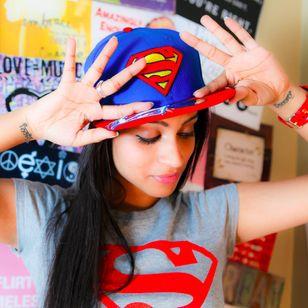 YouTuber Lilly Singh aka IISuperwomanII with two cool wrist tattoos #tattooedyoutuber #YouTuber #LillySingh #IISuperwomanII