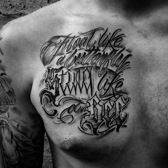 Muhammad Ali Tattoo quote by @Goorazz #GoorazzTattoo #MuhammadAli #MuhammadAliTattoo #CassiusMarcellusClay #CassiusClayTattoo #Tribute #GOAT #TheGreatest #Boxing #Champion