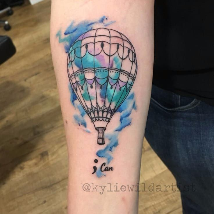 Kylie Wild #KylieWild #balloon #balloontattoo #balao #aquarela #watercolor #SemiColon #pontoevirgula