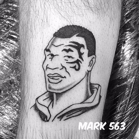 Mike Tyson Tattoo by Mark 563 #MikeTyson #MikeTysonTattoo #BoxingTattoo #SportTattoos #Portrait #Mark563