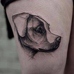 Esses olhinhos *-* #KamilMokot #dogtattoo #dog #cachorro #catioro #pettattoo #petlovers #doglovers #cão #sketch #sketchstyle #estilorascunho