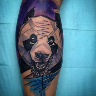 Geometric panda by Szabi (via IG --tat2szabi) #szabi #geometry #panda