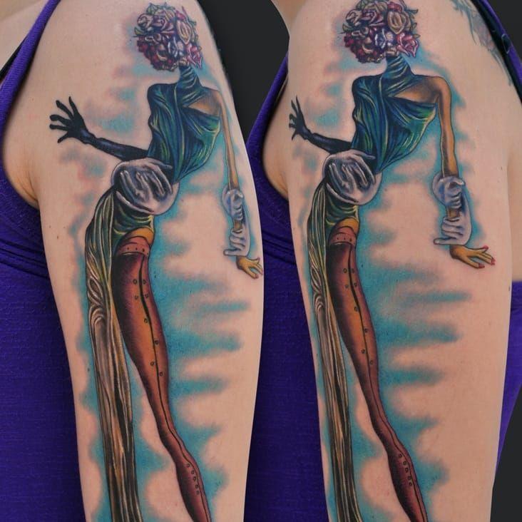 Mulher com a Cabeça de Rosas, de Salvador Dalí por Jamie Lee Parker #JamieLeeParker #art #obrasdearte #mulhercomacabeçaderosas #womanwithaheadofroses #salvadordali #dali #surrealism #surrealismo #hands #maos