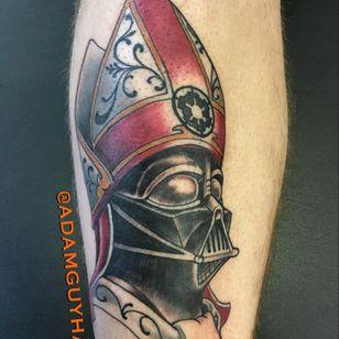 Pope Vader by Adam Guy Hays. (Via IG - adamguyhays) #starwars #adamguyhays