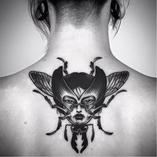 Beetle tattoo by Matteo Al Denti #MatteoAlDenti #blackwork #beetle #insect