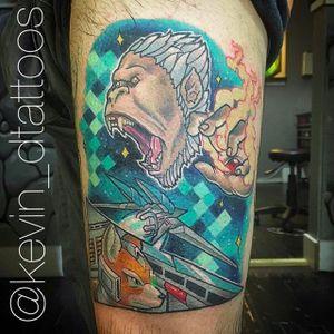 Star Fox tattoo by Kevin Dixon (via IG -- kevin_dtattoos) #kevindixon #starfox #starfoxtattoo