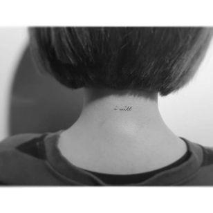 Subtle tattoo by Playgroun Tattoo. #subtle #microtattoo #southkorean #tiny #neck