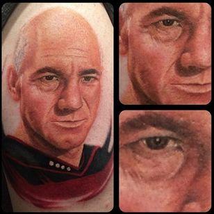 Sabe quem fez essa tatuagem? Conte pra gente! #StarTrek #PatrickStewart #CapJeanLucPicard #realism #50thaniversary #50AnosStarTrek