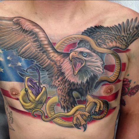Eagle and flag by Erek Lanier. (Via IG - erek_lanier)