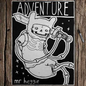 Original Adventure Time drawing by Mr Heggie. #mrheggie #art #adventuretime