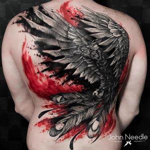 #JohnNeedle #brasil #brazil #brazilianartist #tatuadoresdobrasil #aquarela #watercolor #colorido #colorful #fenix #phenix #ave #passaro #bird #blackwork