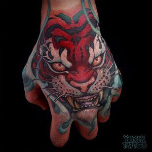 Tiger Tattoo by Yushi #tiger #japanesetiger #japanese #asian #oriental #korean #koreanartist #Yushi