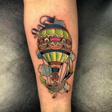 Johnny Jinx #JohnnyJinx #balloon #balloontattoo #balao #colorido #colorful #barco #boat #nuvem #cloud