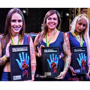 As Cheerleaders!  #TattooExperience #texp2016 #Cheerleaders #GirlTattoo #tattooedgirls