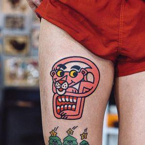 #WoohyunHeo #gringo #traditional #oldschool #colorido #colorful #funny #fun #divertido #pinkpanther #panteracorderosa #movie #filme #desenho #animação #skull #caveira #cranio #doubleface