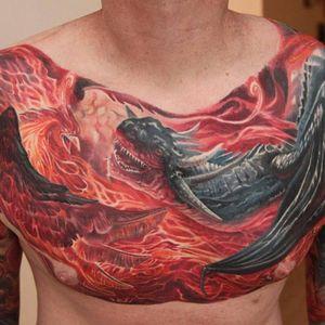 Front part of phoenix and dragon piece #Boris #realistic #phoenix #dragon #chestpiece