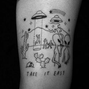 Take it easy. via @seanfromtexas #seanfromtexas #aliens #space