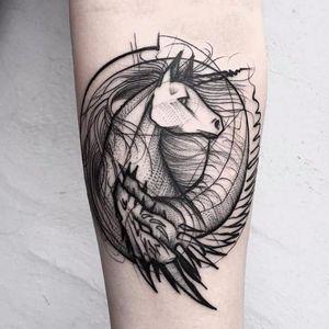 #FrankCarrilho #sketch #sketchtattoo #sketchstyle #rascunho #tattoorascunho #dragon #dragao #unicorn #unicornio #yingyang
