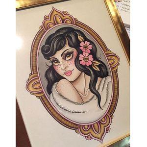 Framed freckles via instagram olivia_olivier #woman #freckles #flashart #flowers #frame #oliviaolivier